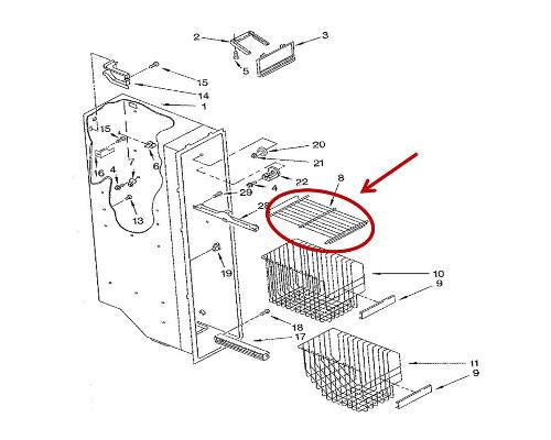 whirlpool part  wp2174249k wire shelf  oem
