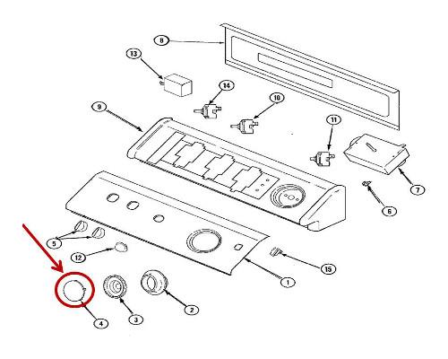 Whirlpool Part 22001664 Timer Knob Cap And Insert Oem