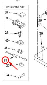 Whirlpool Part# 279872 Timer Power Resistor (OEM) on