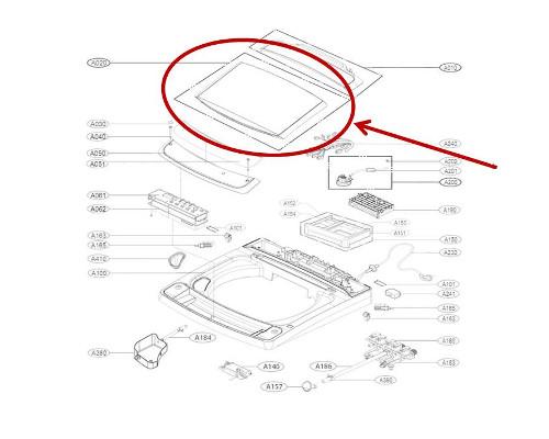 Lg Part  Afg73089808 Lid Assembly  Oem