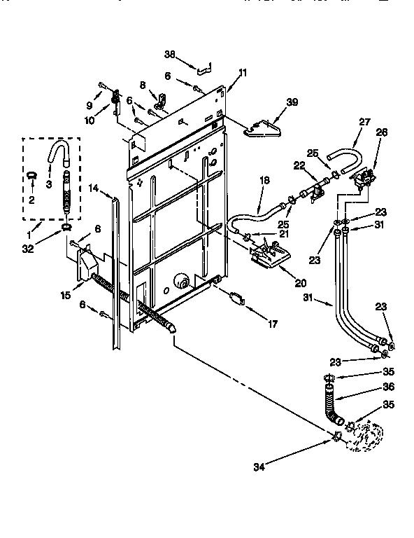 kenmore 110 26902691 washer water inlet valve  w  bracket