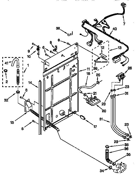 kenmore 110 28812790 washer water inlet valve  w  bracket