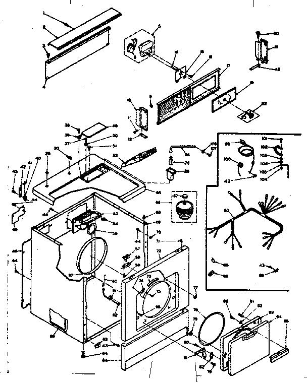 Kenmore 110 6317700 Cabinet Clip