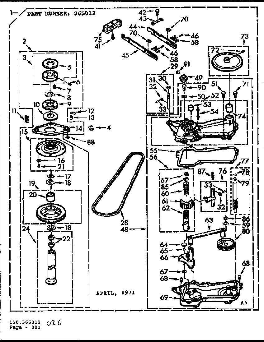 Kenmore 110 71431200 Transmission Case Gasket