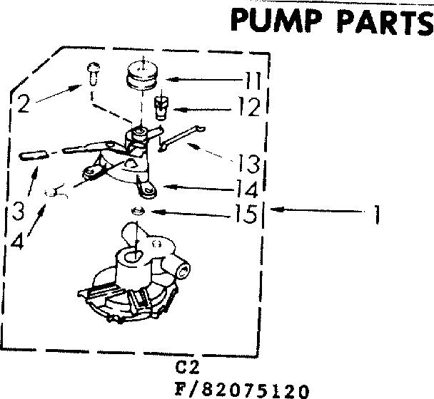 Kenmore 110 82075120 Water Drain Pump