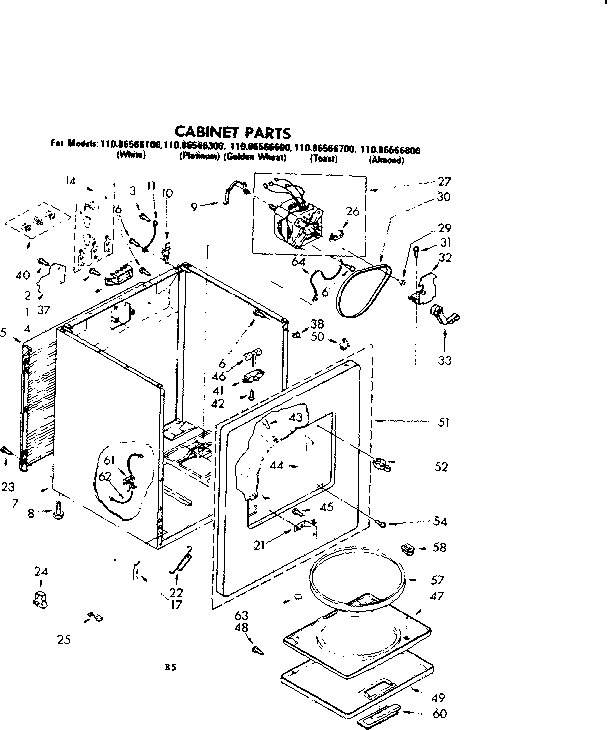 Kenmore 110 86566100 Cabinet Clip