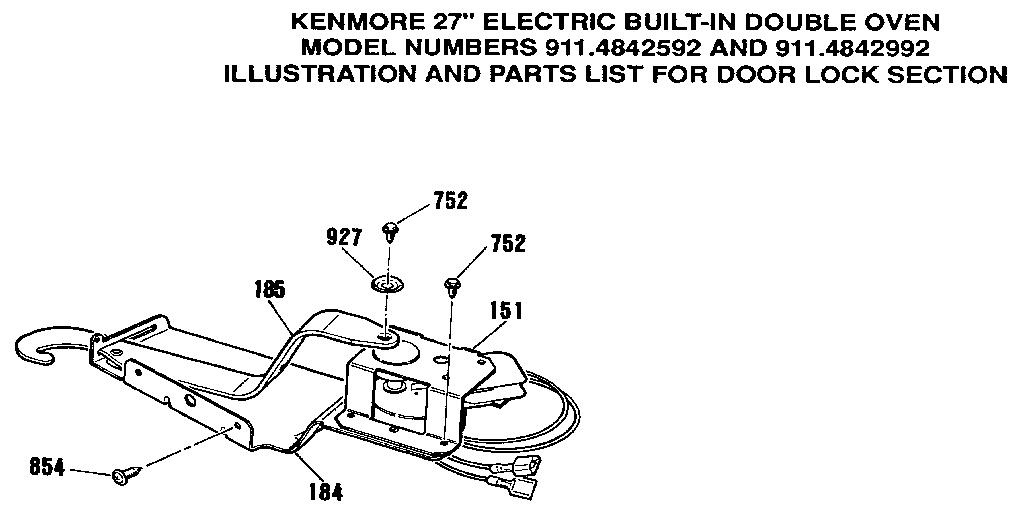 Kenmore 363 4842992 Oven Door Latch