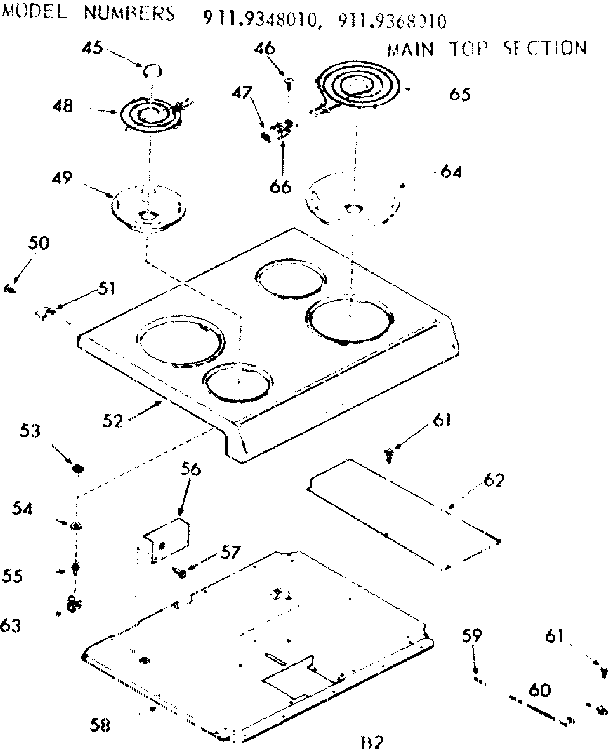 Kenmore 911 9348010 Surface Burner Receptacle Kit