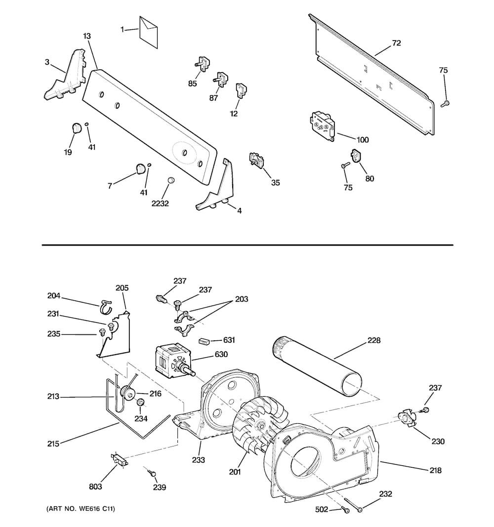 GE GTDP300EM1WS Dryer Drum Drive Belt - Genuine OEM on