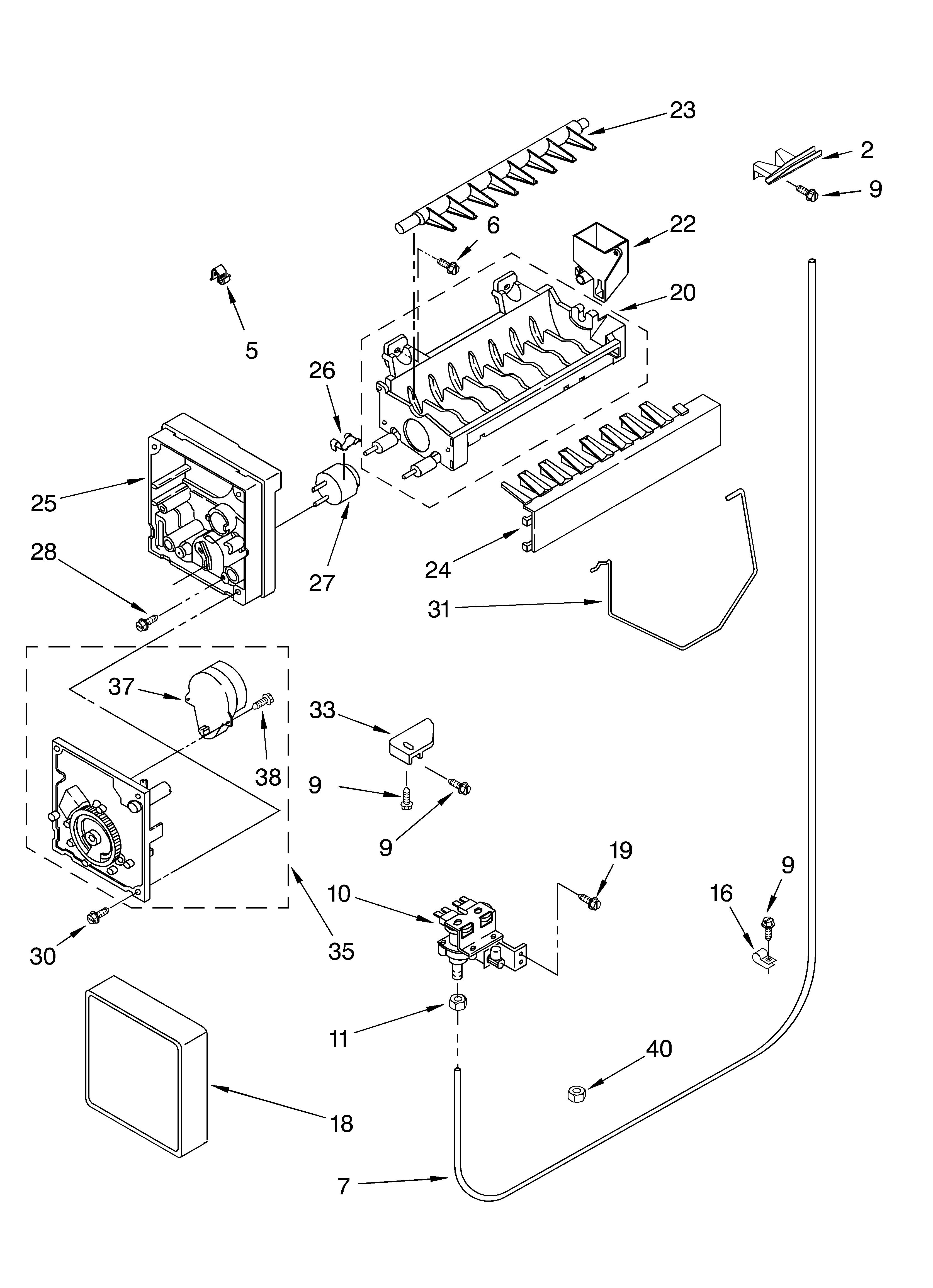 31 whirlpool ice maker wiring diagram