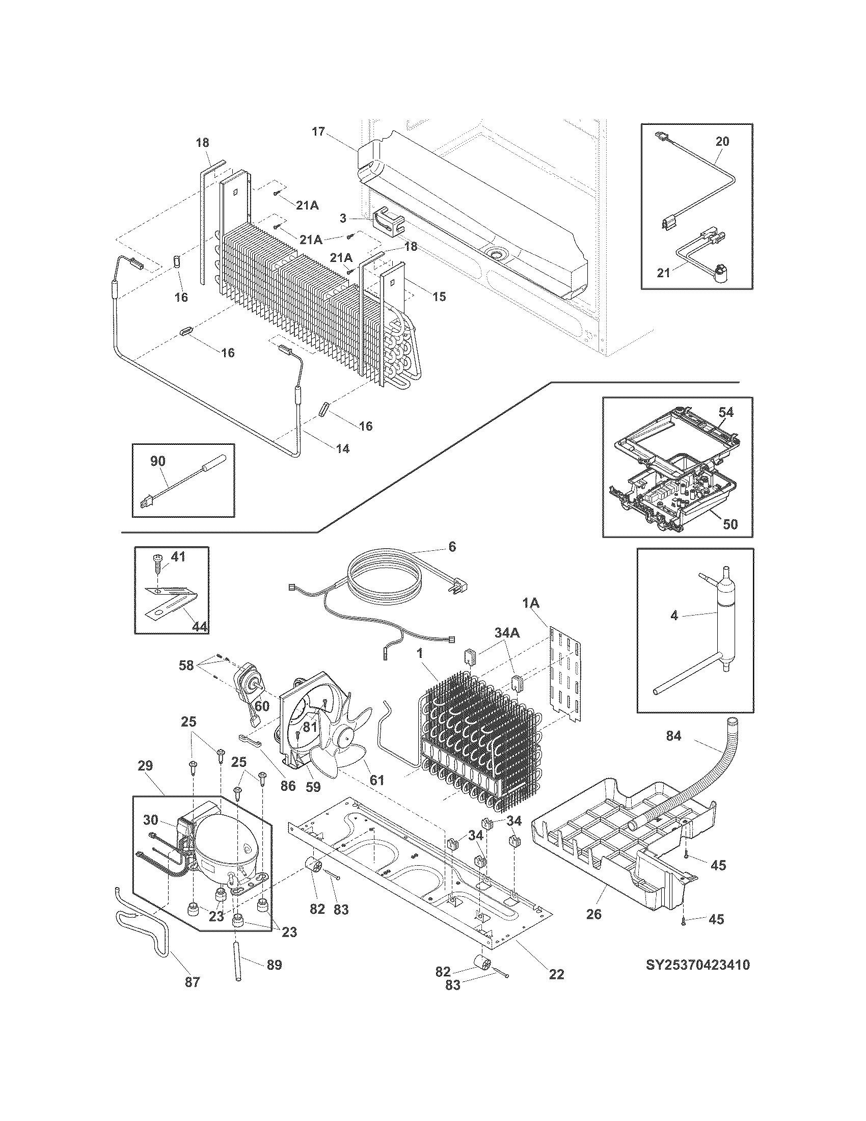 refrigerator cooling system diagram