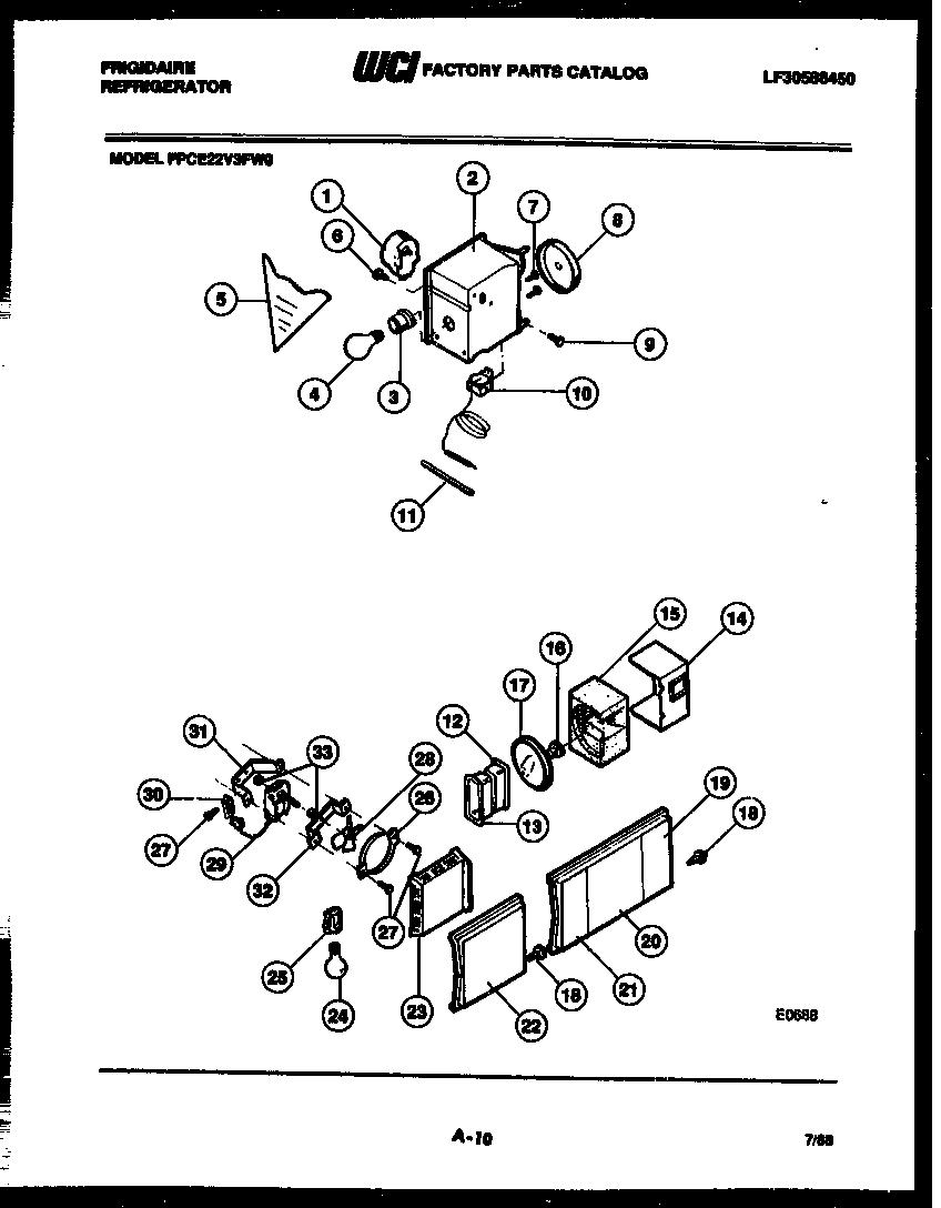 frigidaire fpce22v3fl0 defrost timer - 60hz 120v