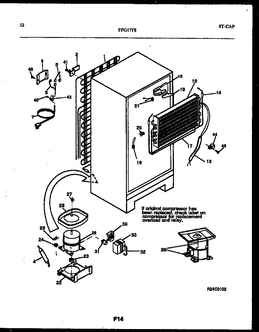 Frigidaire Fpg17tsw0 Evaporator Coil