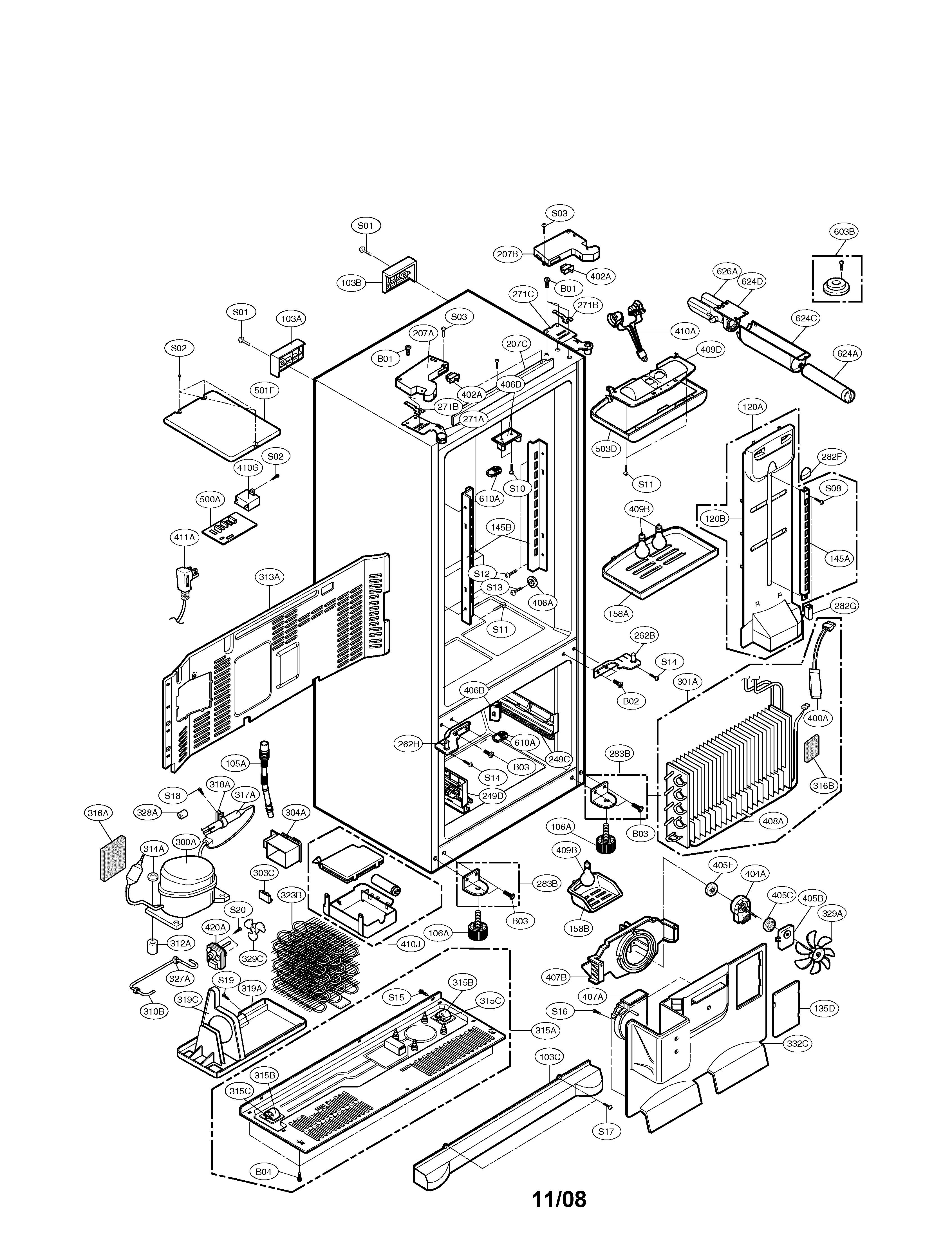 lg lfx25960st condenser fan motor