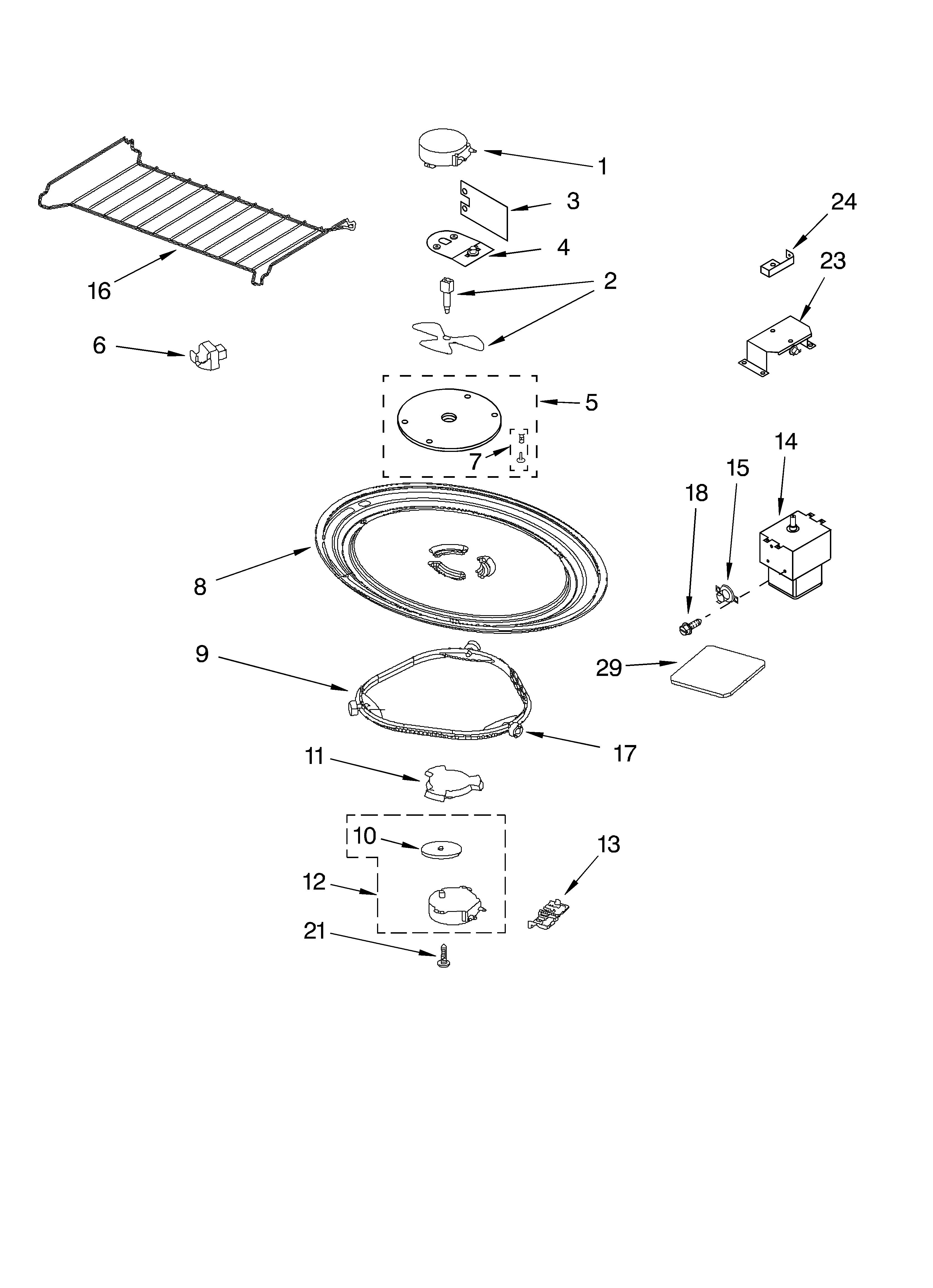 Whirlpool Mh9181xmb0 Turntable Motor