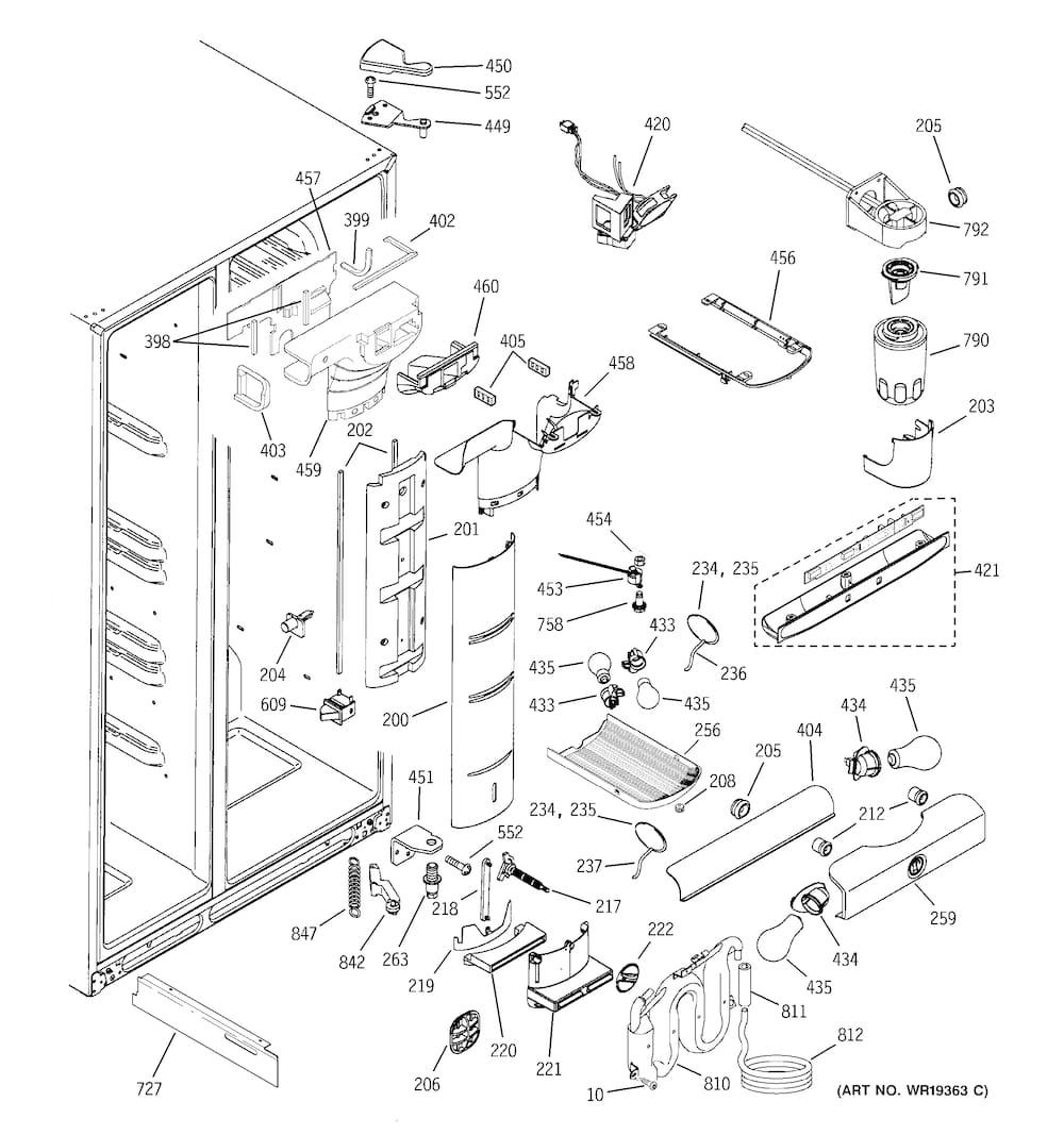 ge pss26sgpass refrigerator damper temperature control