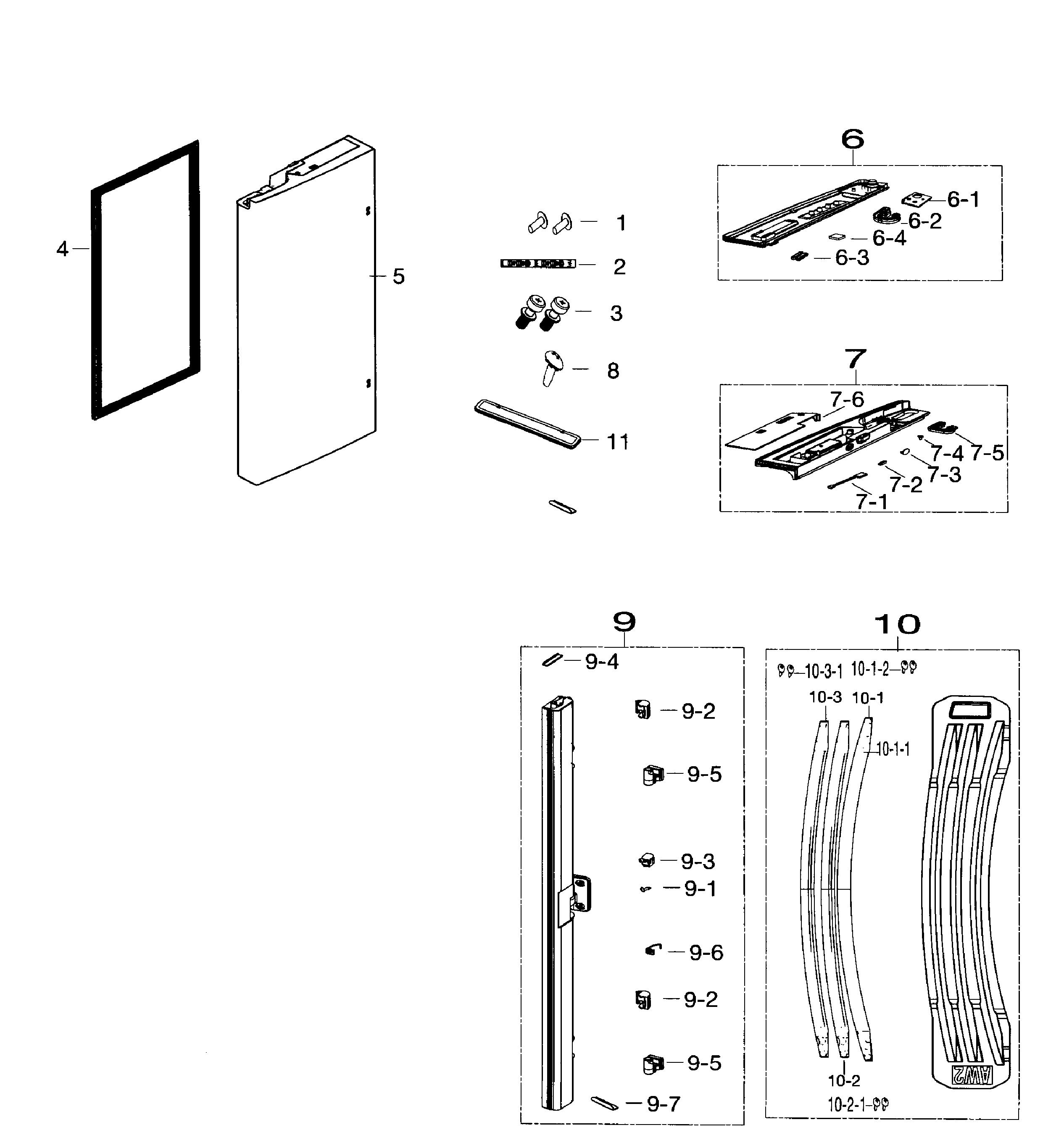 Samsung Rf260beaesr Door Gasket  Left Or Right Side