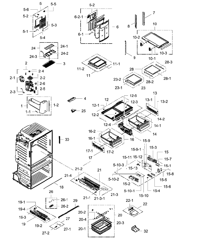 Samsung Rf28hmedbsr Diagram