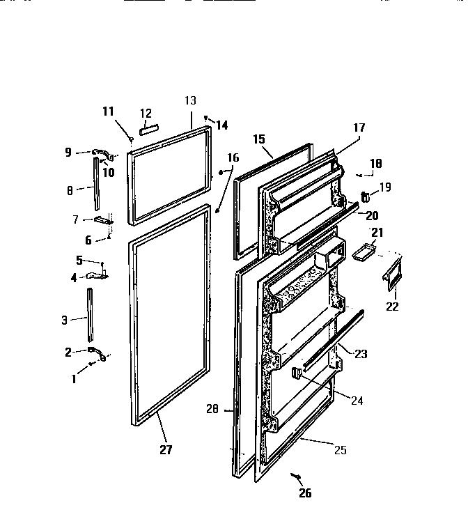 white westinghouse rt155hcf2 bottom door shelf retainer bar  23in x 1 11  16in