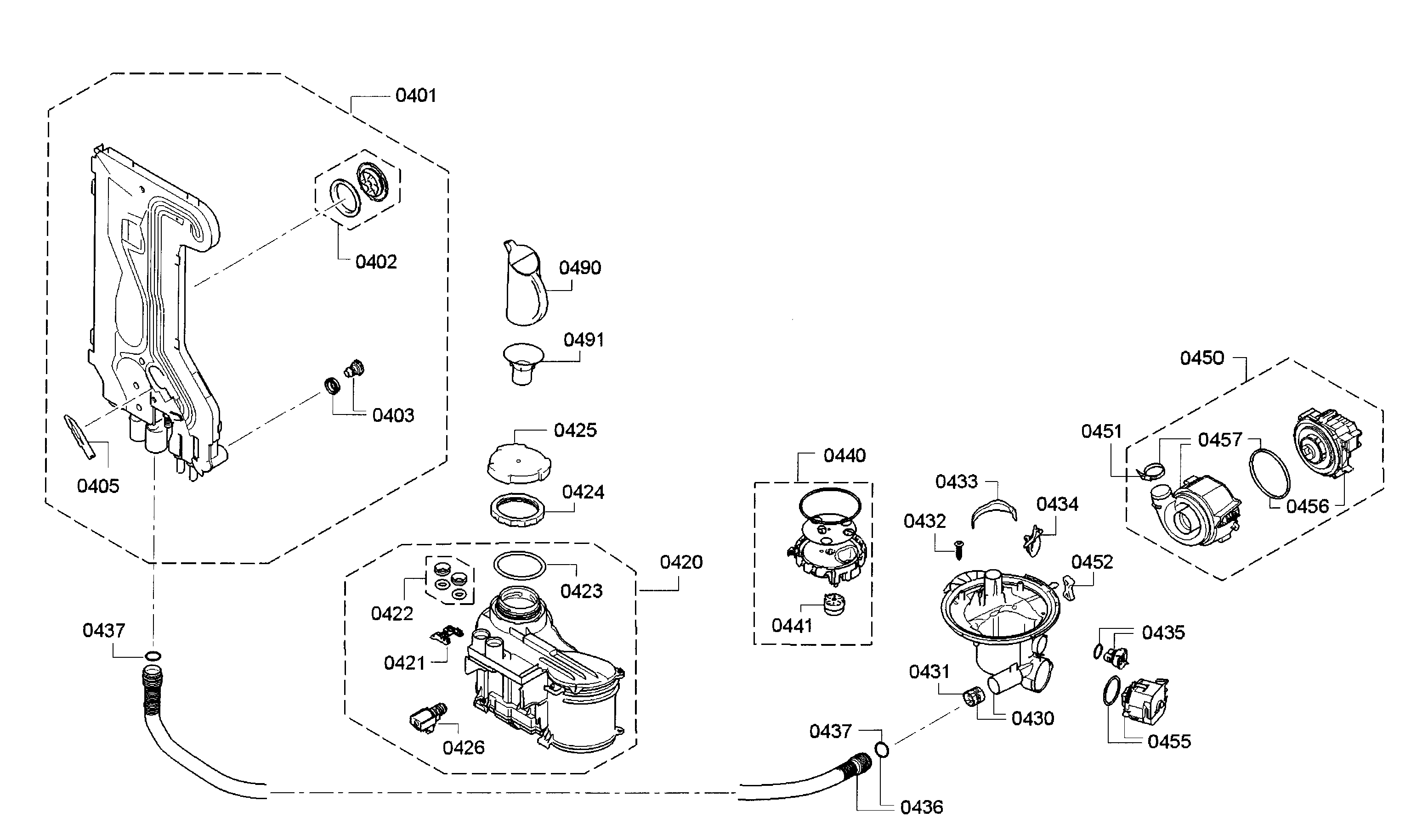 Bosch Spx68u55uc  23 Circulation Pump Assembly