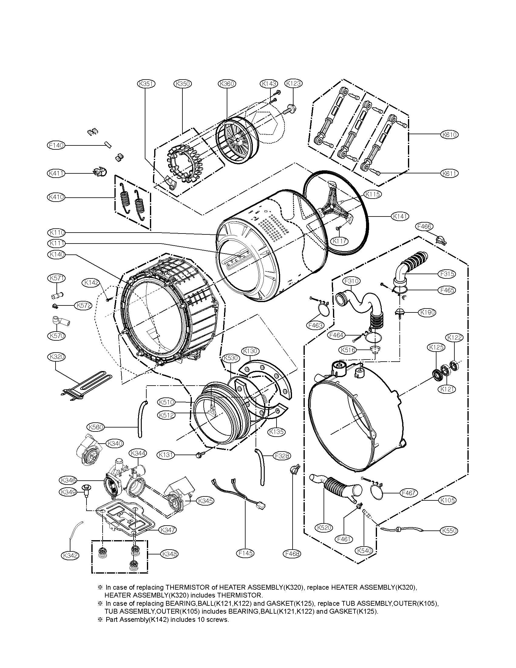 lg wm3360hwca washer wire harness  motor  multi