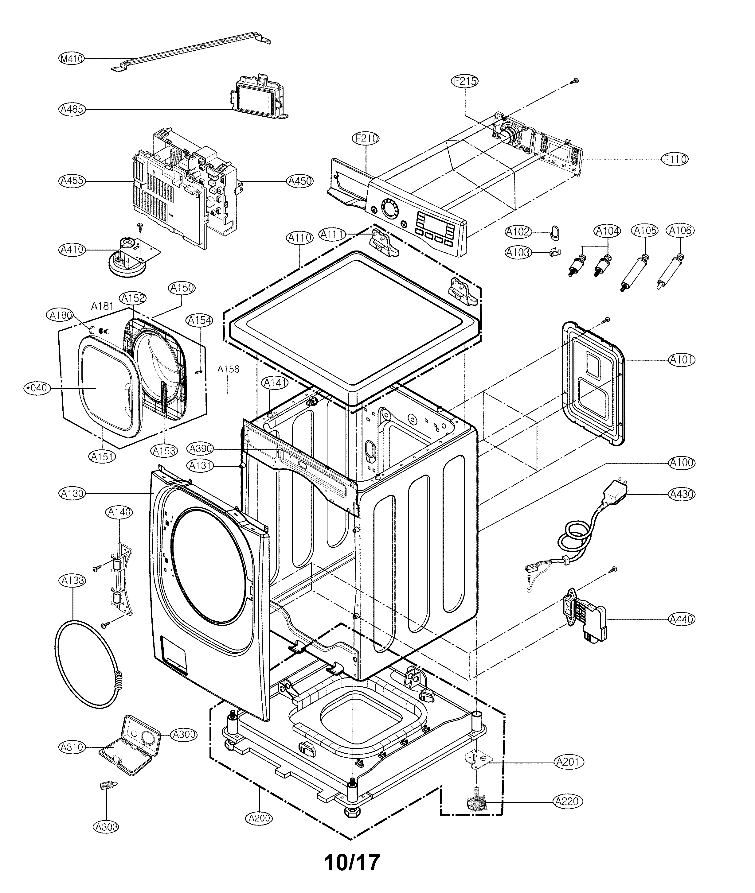 Lg Wm4370hka Washer Drain Pump And Motor Assembly