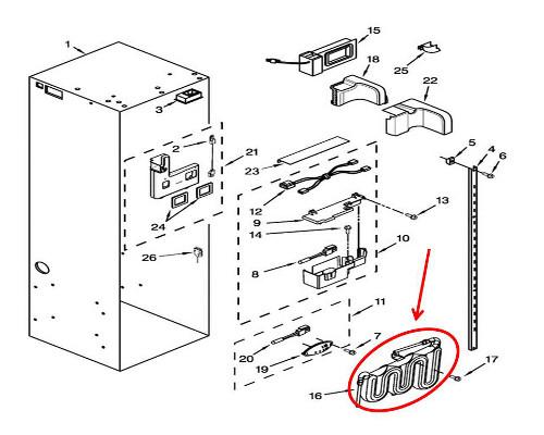 Kitchenaid Kssc42qts00 Diffuser Control Board Genuine Oem