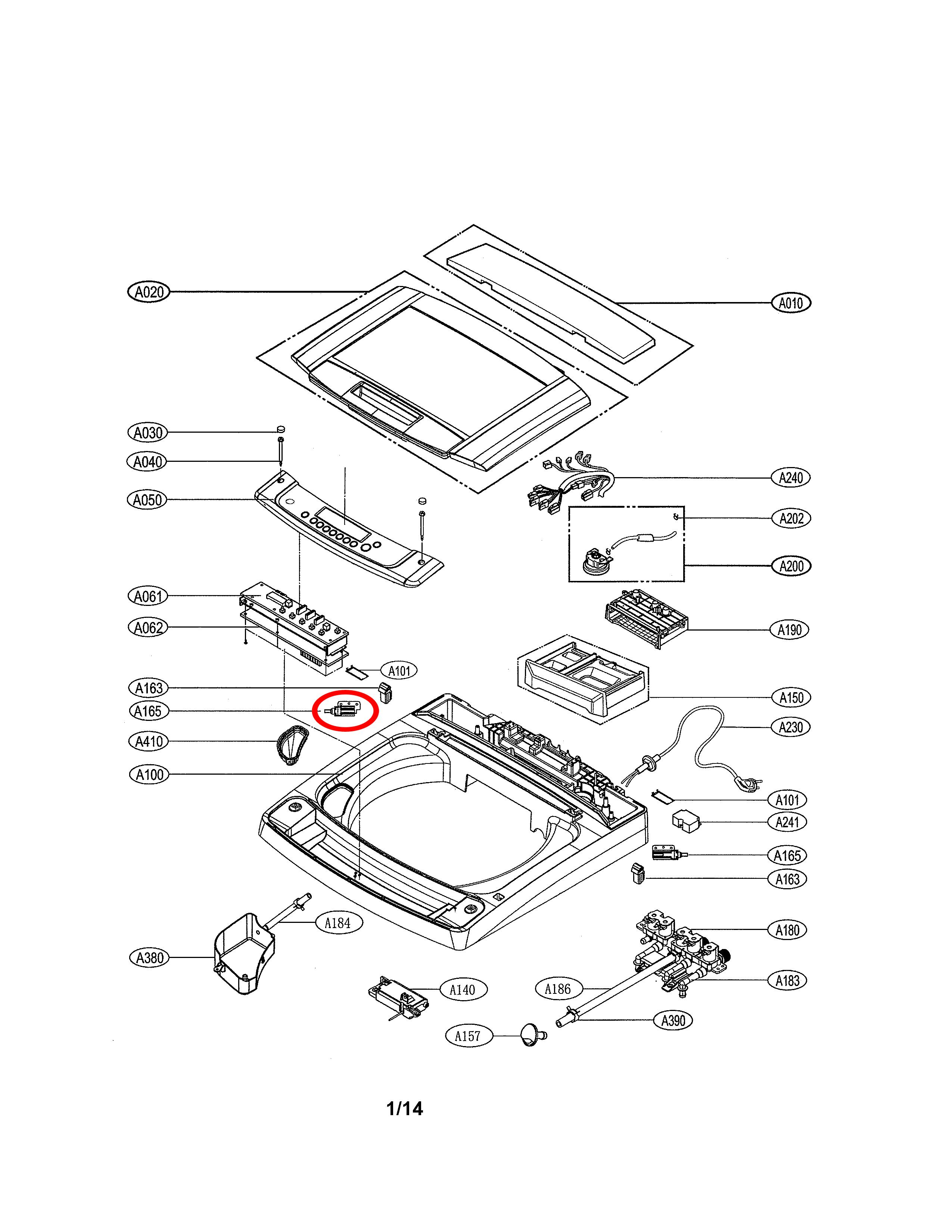 Lg Part  Agm73832001 Lid Hinge Damper Assembly  Oem