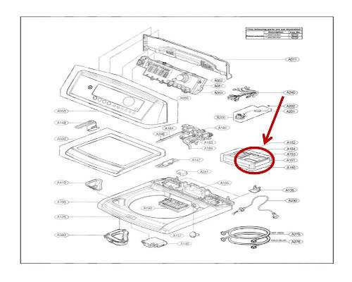 Lg Part  Mbl62061601 Softener Cap  Oem
