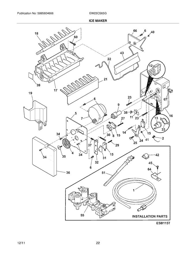 electrolux ew23cs65gb0 ice maker wiring harness