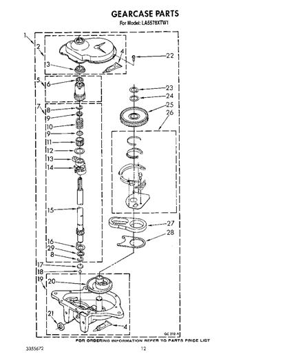 Whirlpool La5578xtg1 Agitate Cam Kit