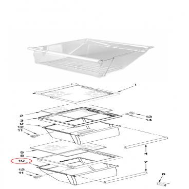 Whirlpool WRS325FDAM02 convertible vegetable/meats Crisper Drawer - Genuine OEM