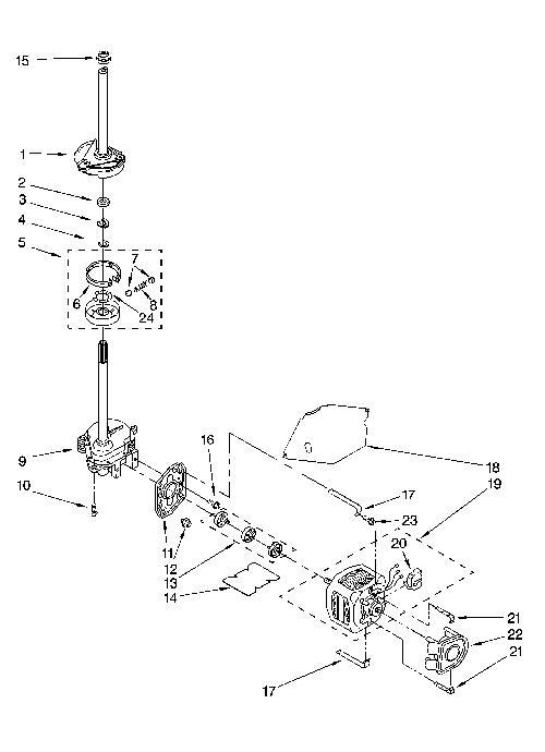 kenmore 110 28522701 transmission gearcase  neutral drain