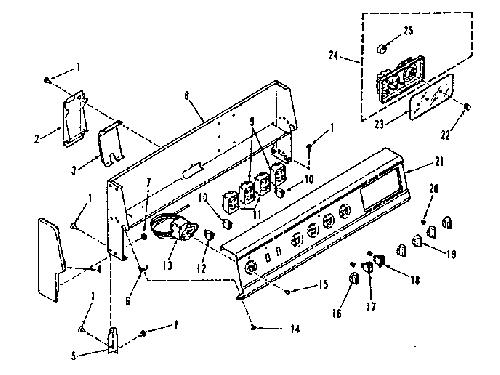 Kenmore 911 9268710 Surface Burner Infinite Switch