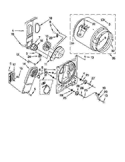 admiral aed4675yq0 drum support roller kit genuine oem. Black Bedroom Furniture Sets. Home Design Ideas