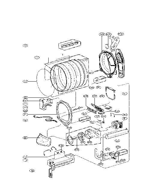 Lg Dlex5101v Dryer Heating Element Assembly Genuine Oem