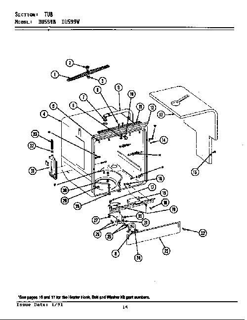 jenn-air du599w wire harness retainer