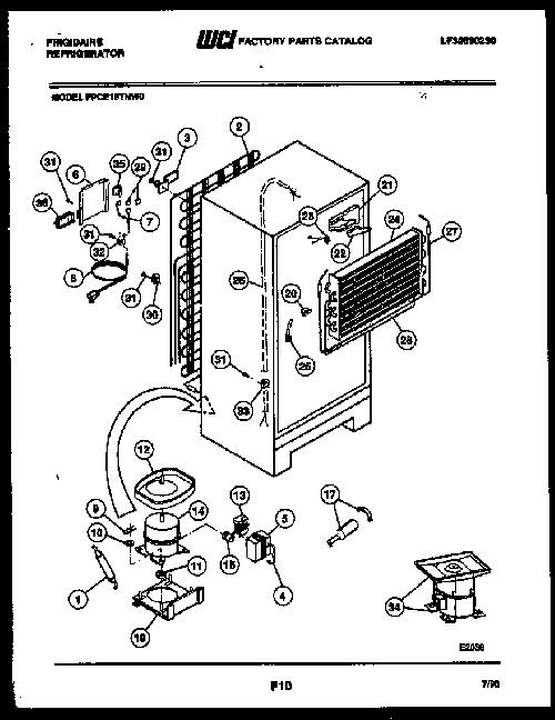 frigidaire fpce19tna0 defrost heater assembly