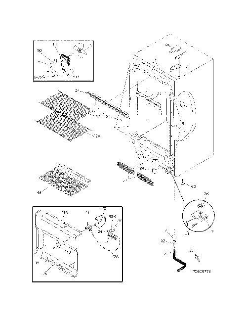 gibson gfu14f3aw7 evaporator fan motor w   wire harness