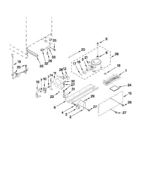 Kitchen Aid Wine Cooler Parts Diagram