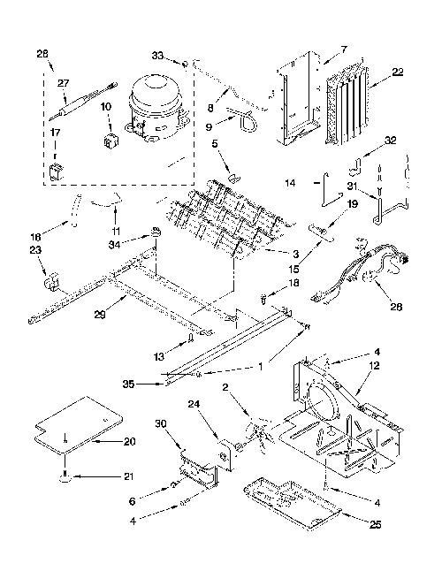 kitchenaid ksrs25mwms02 condenser fan motor