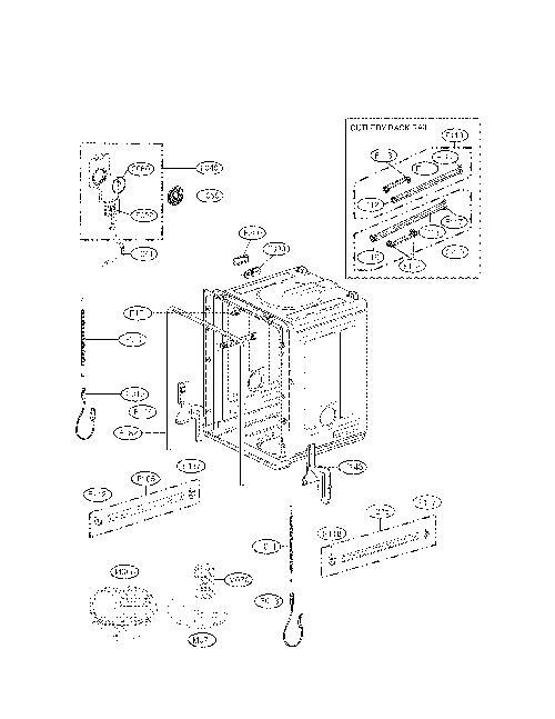 lg ldf8072st sump-motor assembly