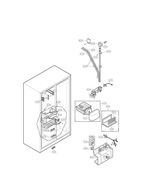 ice maker assembly kit for lg lsc26905sw refrigerator. Black Bedroom Furniture Sets. Home Design Ideas
