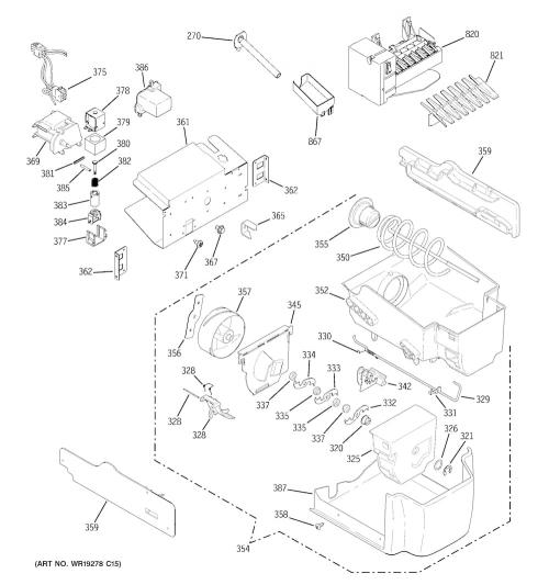 ge pss26mstdss ice maker assembly