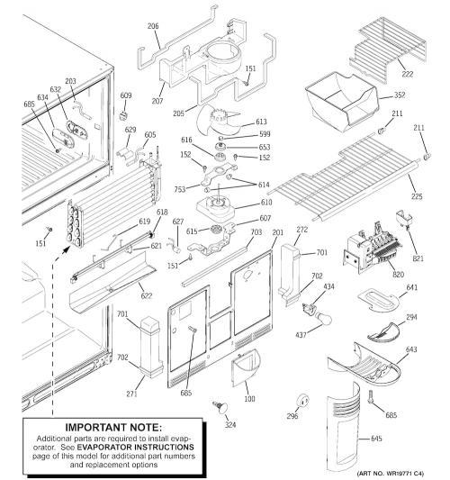 Ge pts lhsarww refrigerator ice maker assembly kit