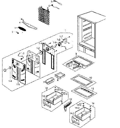 Samsung Rb215zasw Xaa Refrigerator Parts