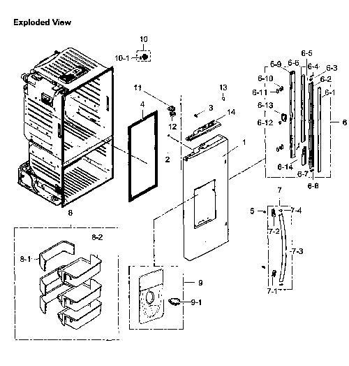 Samsung Rf261beaesr Refrigerator Parts