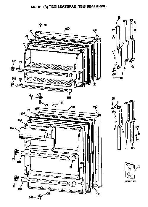 wire diagram for ge refrigerator model 22 25  diagrams
