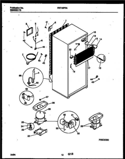 frigidaire frt18praw1 defrost heater assembly
