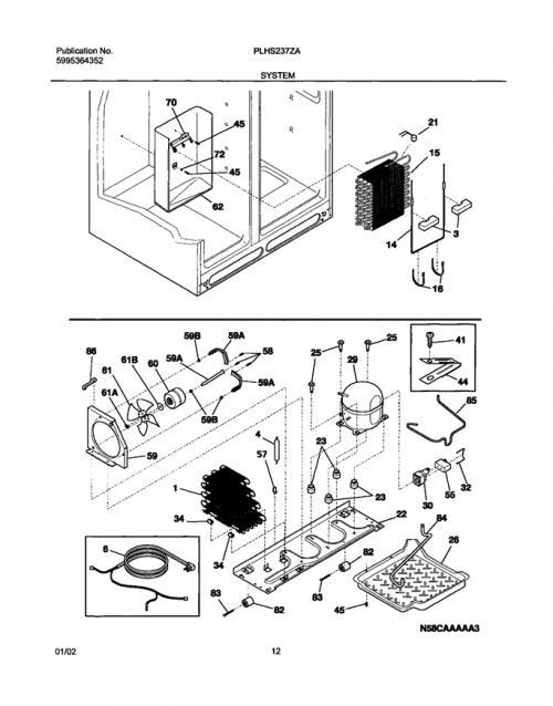 Frigidaire Plhs237zab0 Refrigerator Wiring Harness